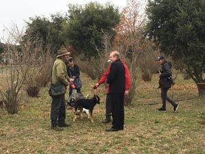 Bishop blessing truffle dogs and gatherers